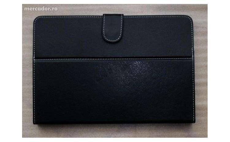 Husa Tableta 10 Inch  Neagra  Tip Mapa  Protectie Antisoc  Piele Sintetica  La 24 Ron In Loc De 50 Ron