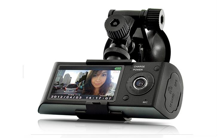 Camera Video Auto Sw R300 Dual-cam Cu Gps Logger, La 348 Ron In Loc De 870 Ron