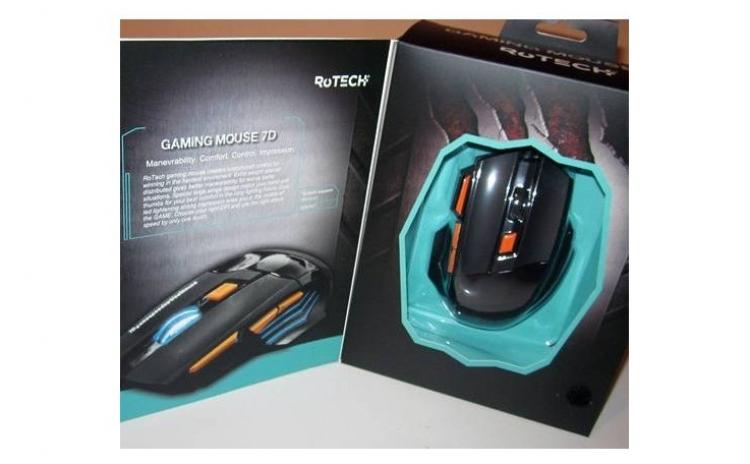 Rotech Mouse Gaming 7d, Design Special, Ergonomic Si Ultra-confortabil, Scroll Antiderapant, Buton In 4 Trepte Pentru Viteza Si Precizie, La Doar 99 Ron In Loc De 198 Ron