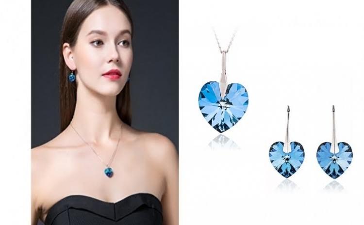 Set bijuterii Inima Oceanului Ag 925