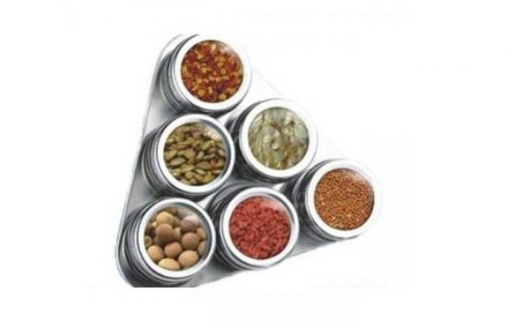 Set 6 Recipiente Pentru Condimente  Asezate Pe Suport Magnetic  La Doar 59 Ron Redus De La 139 Ron