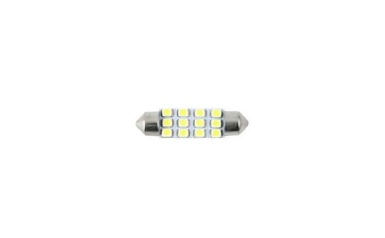 Imagine indisponibila pentru Bec sofit 12 led SMD, lumina alba, 24V, 11x39mm, set 2 buc