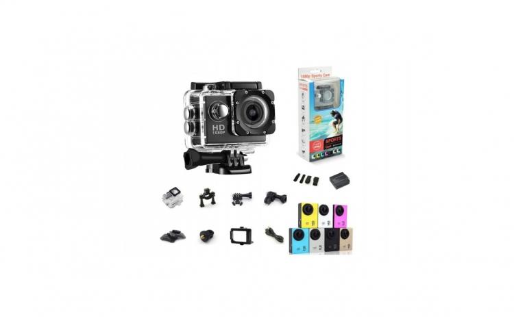 Camera Sport HD + Carcasa de protectie