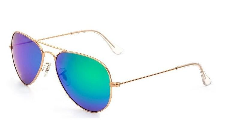 Ochelari de soare Aviator  - Verde/Gold
