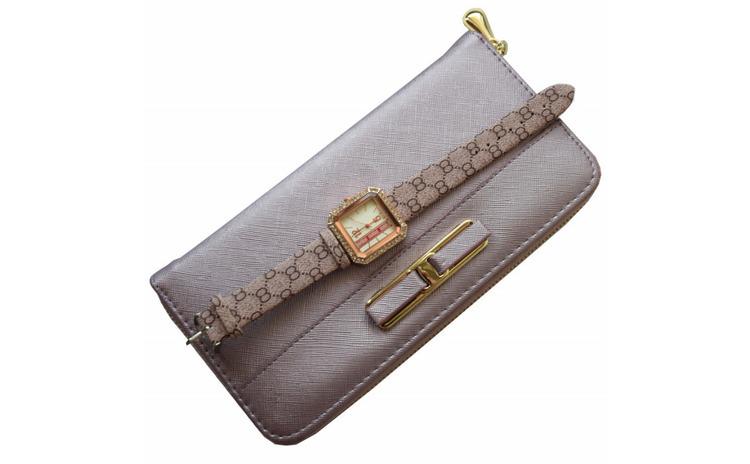Pachet portofel elegant de dama - mov