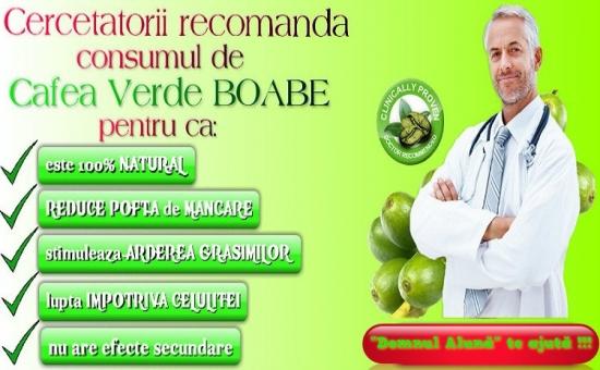 Cafea Verde Boabe, pentru slabit, 500g - la doar 36 RON in loc de 72 RON - 10 grame de cafea verde consumate inaintea principalelor mese ale zilei duc la reducerea grasimilor din corp!