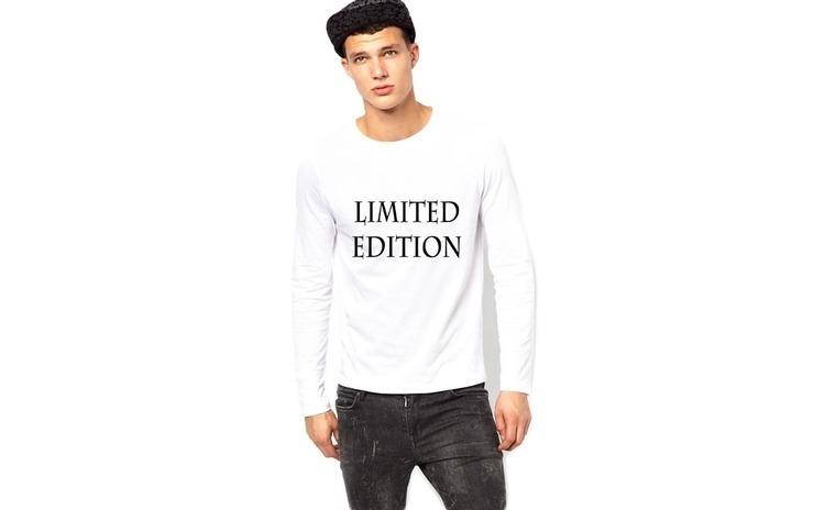 Bluza alba, barbati, Limited Edition