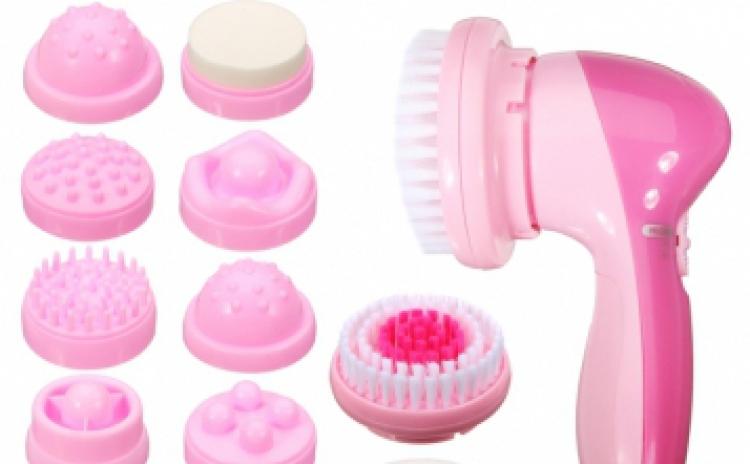 Perie curatare faciala cu 12 accesorii