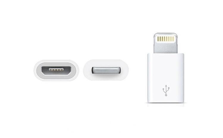 Adaptor Lightning de la Micro USB la