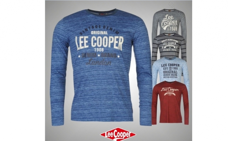 Tricou maneca lunga barbati Lee Cooper Textured, la 119 RON in loc de 259 RON