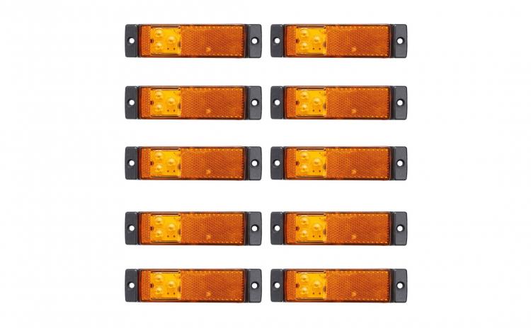 Set 10 lampi gabarit 130x32 cu 3 LED-uri