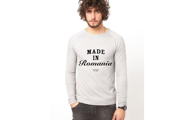 Bluza gri, barbati, Made in Romania