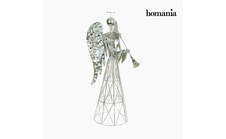 Figura Decorativa Fier Argintiu Alb by Homania