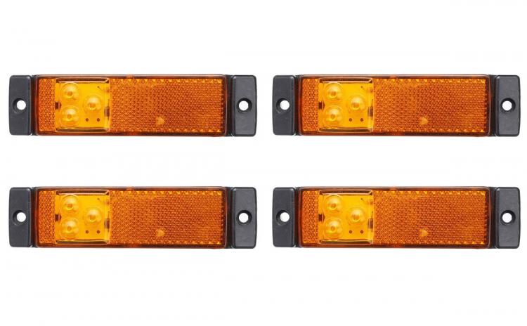 Set 4 lampi gabarit 130x32 cu 3 LED-uri