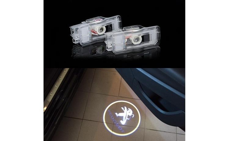 Set 2 Bucati Emblema Logo LED Portiera