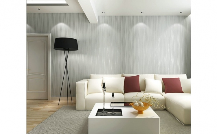 Tapet Light Gray, design interior - 10 m X 0.53 m