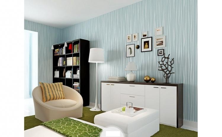 Tapet Light Blue, design interior - 10 m X 0.53 m