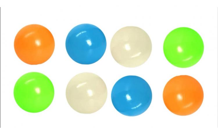 Set 8 Bile Fluorescente - Squishy Ball