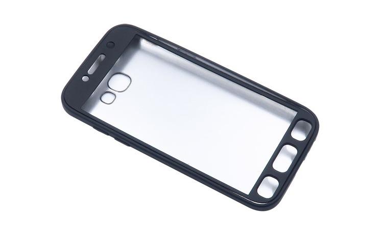Husa Samsung Galaxy A3 2017 Flippy Full Silicone 360 Negru + Folie de protectie