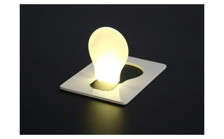 Reduceri Alte activitati – 56 % Reducere – Pret Lumina de buzunar sub forma de card