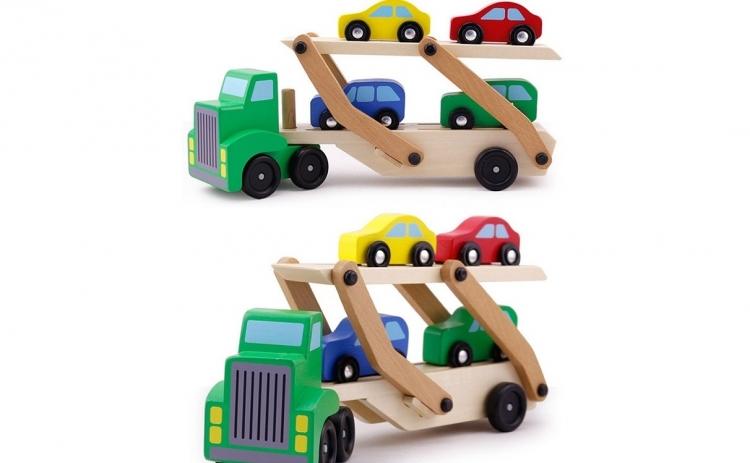 Camion transporter lemn + 4 masini