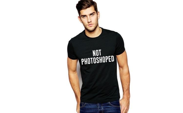 Tricou negru barbati  - Not Photoshoped