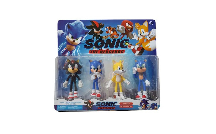 Set 4 figurine tip Sonic The Hedgehog