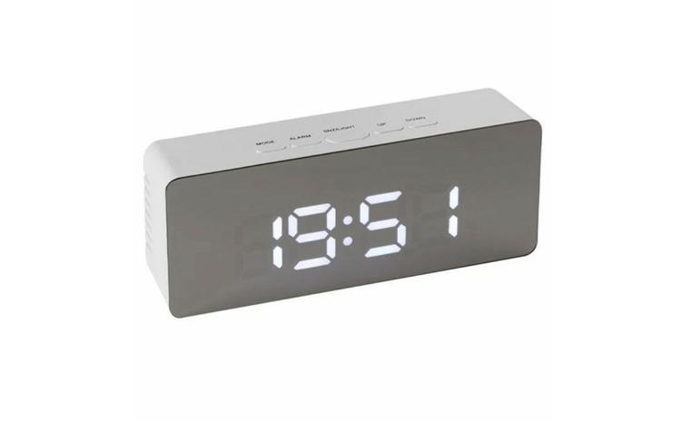Ceas digital de camera cu LED, alarma si