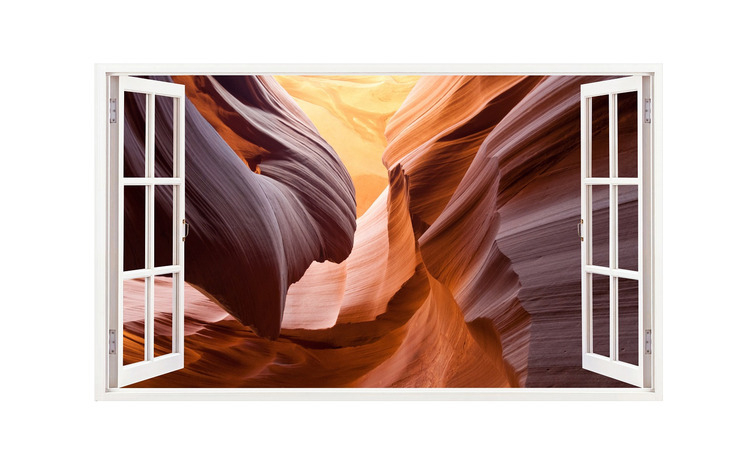 Sticker decorativ, Fereastra 3D, Dune de