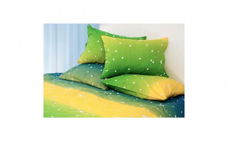 comercializează SUA vânzare ieftină 100% calitate superioară Set lenjerie pat dublu bumbac, 6 piese model Green Stars,...