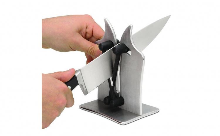 Dispozitiv pentru ascutit cutite ,argint