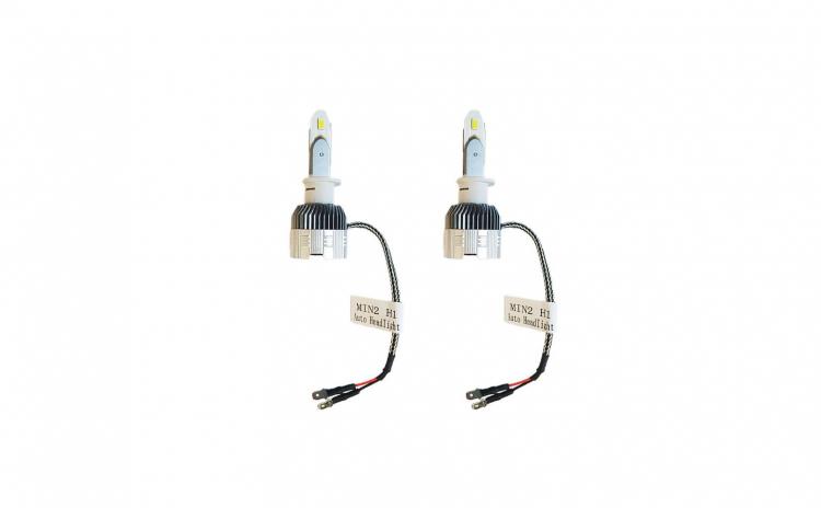 Set 2 becuri LED H1, Lumina ALBA, 8000k