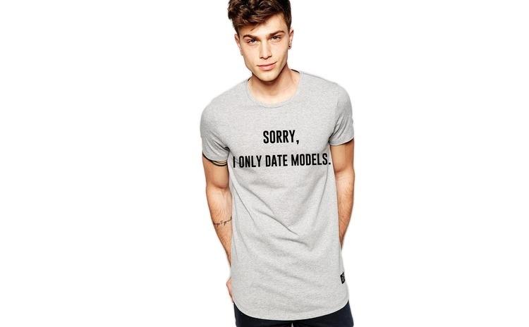 Tricou gri barbati - Sorry, i only date