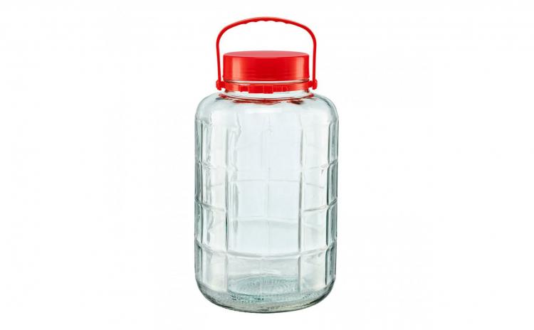 Borcan de sticla cu capac de plastic