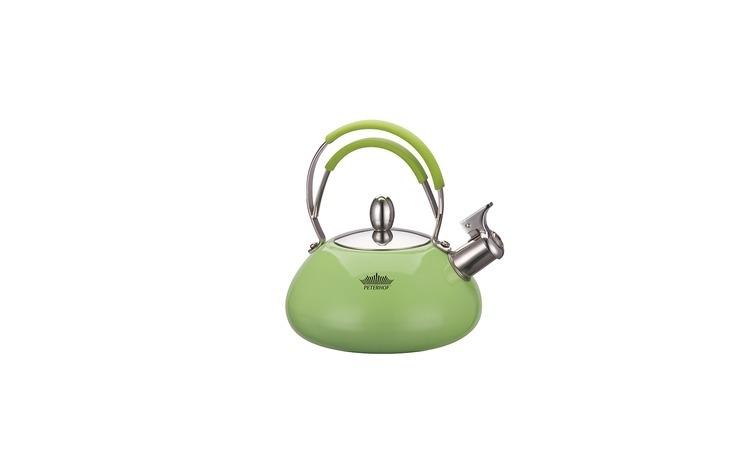 Ceainic cu avertizor fierbere, 2.5 l, peterhof, verde