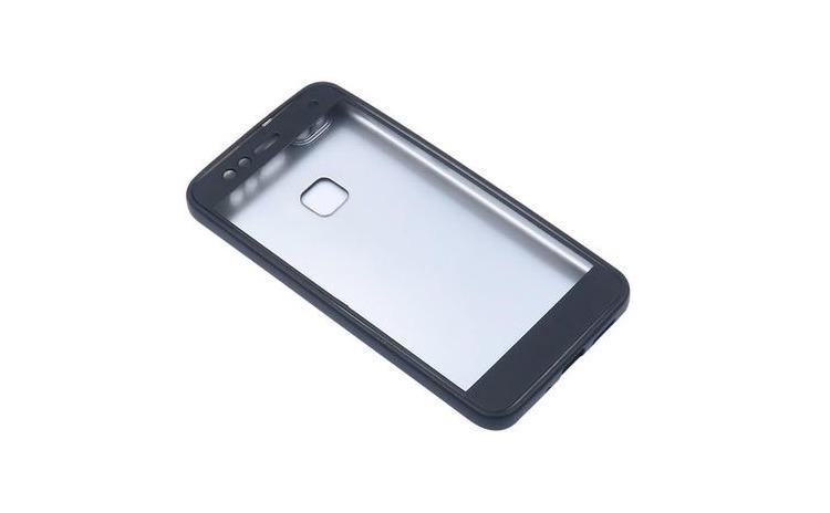 Husa Huawei P10 Plus Flippy Full Silicone 360 Negru + Folie de protectie