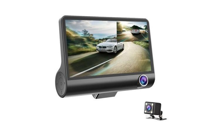 Camera auto tripla Full HD 170 grade