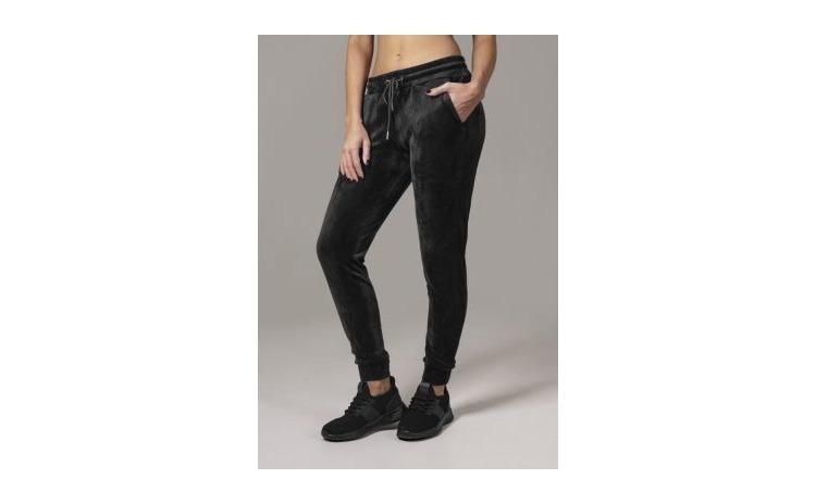 Pantaloni catifea Negru