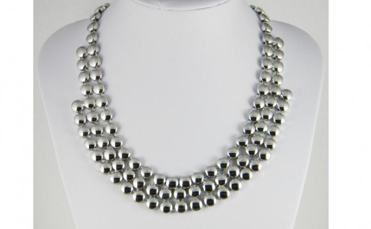 Colier fashion buline argintii