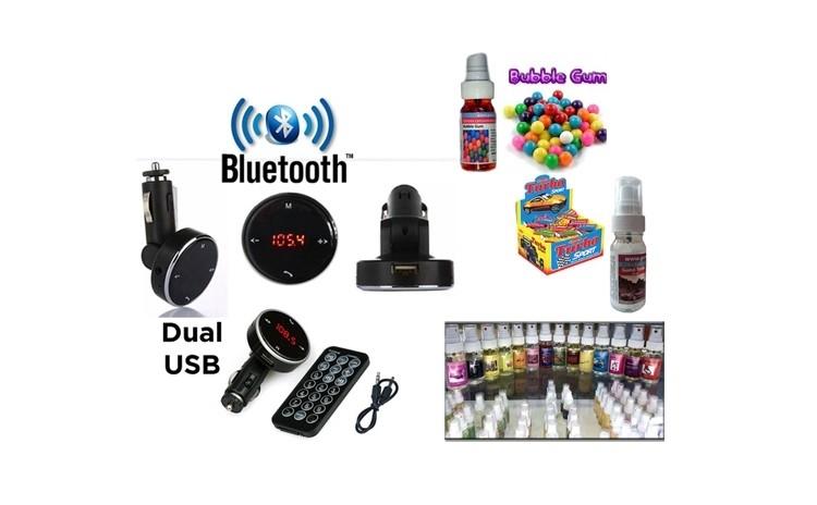 Car kit auto bluetooth+cadou parfum auto