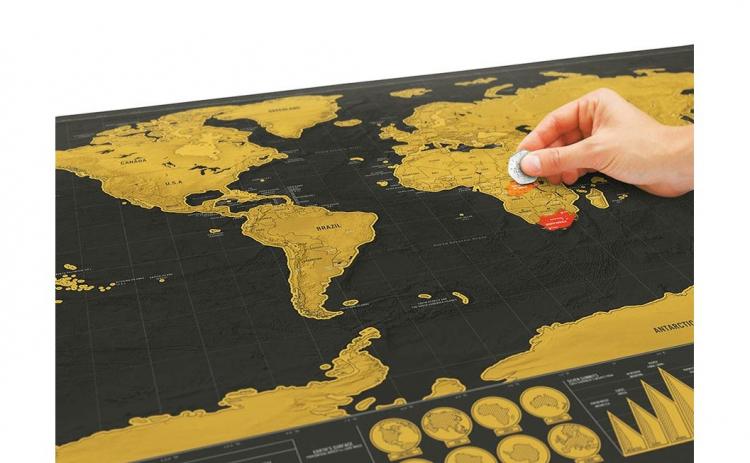 Harta razuibila World Map, Deluxe, XL