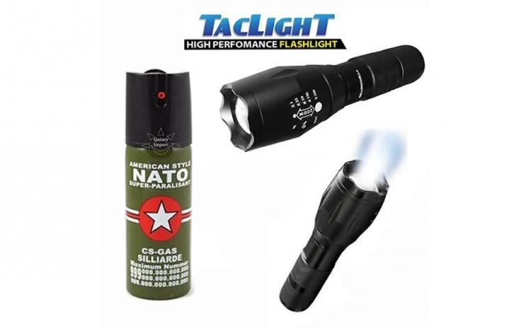 Lanterna Tac Light + Spray lacrimogen