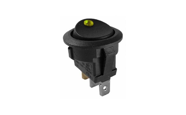 Intrerupator cu LED 12V galben 6A/250V