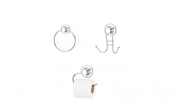 Set accesorii pentru baie cromate