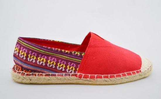 Espadrile Colors Vintage - Rosu, la 54 RON in loc de 150 RON