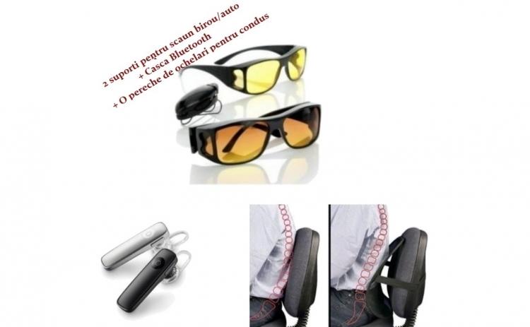 Suport scaun+ Casca Bluetooth+ Ochelari
