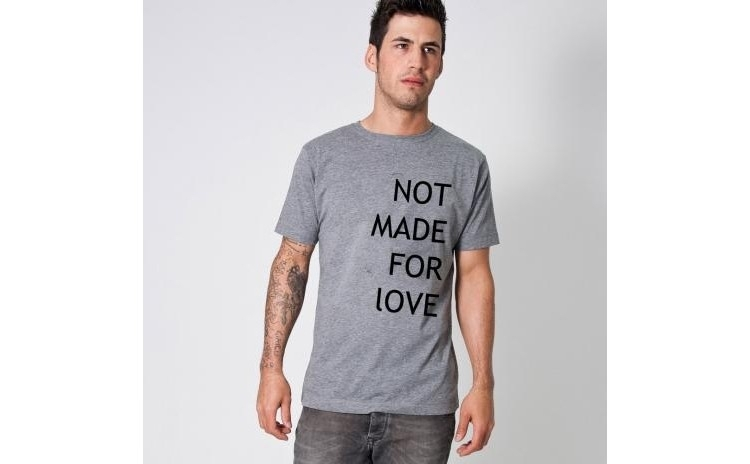Tricou gri barbati - Not made for love la doar 65 RON in loc de 130 RON