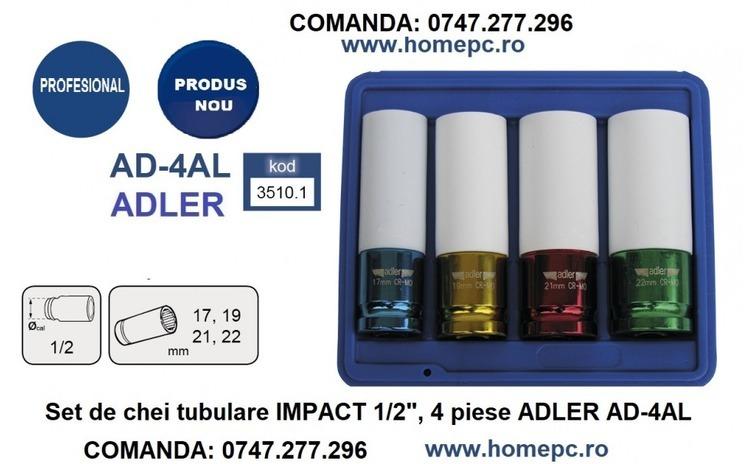 "Set de chei tubulare IMPACT 1/2"", 4"
