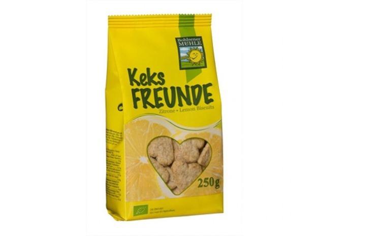 Freunde biscuiti Bio cu lamaie, 250g