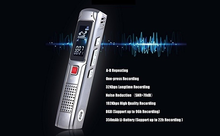 Reportofon metalic - memorie 8GB